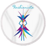 Fashionista Round Beach Towel