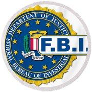 Fbi Seal Mockup Round Beach Towel