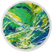 Feeling Of Summer Round Beach Towel