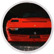 Ferrari 208 Gtb Turbo. Round Beach Towel