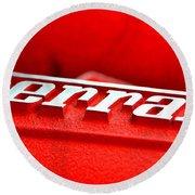Ferrari Intake Round Beach Towel
