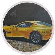Ferrari Sp 275 Rw Competizione Round Beach Towel by Richard Le Page