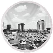 Festive Tampa Bay Round Beach Towel