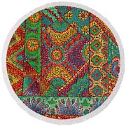 Fiesta Round Beach Towel