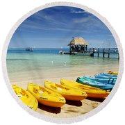 Fiji, Malolo Island Round Beach Towel