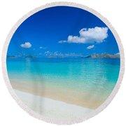 Fiji, Mana Island Round Beach Towel
