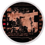 Film Homage Collage Young Billy Young 1969 Old Tucson Arizona 1968-2013 Round Beach Towel