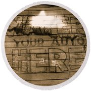Film Homage Gregg Toland John Ford Henry Fonda The Grapes Of Wrath 2 1940 Ft. Steele Wy 1971-2008 Round Beach Towel