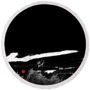 Film Noir Homage Robert Mitchum Blood On The Moon 1948 Rising Moon Casa Grande Arizona 2005-2008 Round Beach Towel