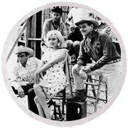 Film: The Misfits, 1961 Round Beach Towel