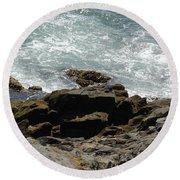 Fine Art Water And Rocks Round Beach Towel