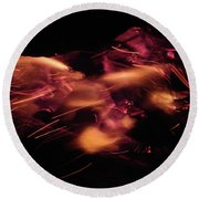 Fire Abstract  Round Beach Towel