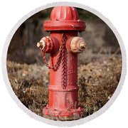 Fire Hydrant #16 Round Beach Towel