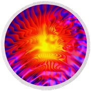 Fire Storm Round Beach Towel