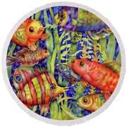 Fish Tales IIi Round Beach Towel