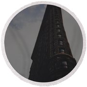 Flat Iron Building Round Beach Towel