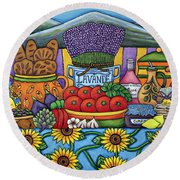 Flavours Of Provence Round Beach Towel