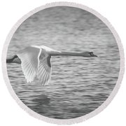 Flight Of The Swan Round Beach Towel
