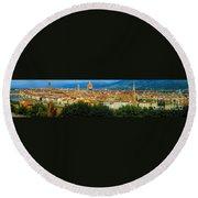 Florence, Italy Panoramic Round Beach Towel