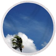 Florida Clouds Round Beach Towel
