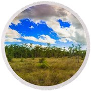 Florida Everglades Round Beach Towel