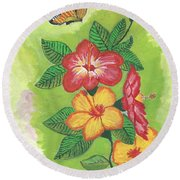 Flowers For My Soul Round Beach Towel