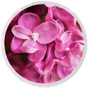 Flowers - Freshly Cut Lilacs Round Beach Towel
