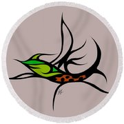 Fly Fish Fly Round Beach Towel