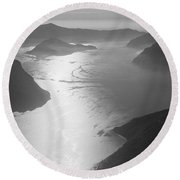 Fog Over The Iseo Round Beach Towel
