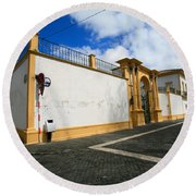 Fonte Bela Palace - Azores Round Beach Towel
