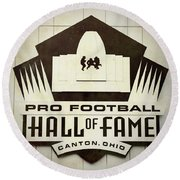 Football Hall Of Fame #1 Round Beach Towel