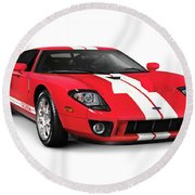 Ford Gt Supercar Round Beach Towel
