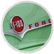 Ford Pickup Details Round Beach Towel