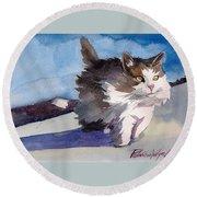 Forest Cat Round Beach Towel