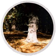 Forest Entrance Round Beach Towel