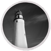 Fort Gratiot Lighthouse Round Beach Towel