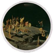 Forty-two Kids Round Beach Towel