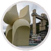 Fountain Of The Market Ramp By Mario Cravo Round Beach Towel