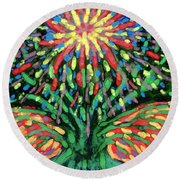 Fountain Round Beach Towel