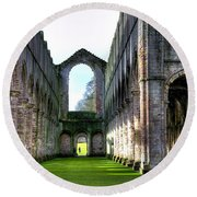 Fountains Abbey 7 Round Beach Towel