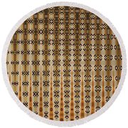 Four Eggplant Abstract Round Beach Towel