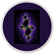 Fractal 2 Round Beach Towel
