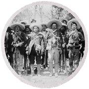 Francisco Pancho Villa Round Beach Towel
