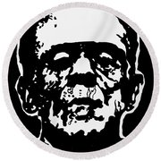Frankenstein Round Beach Towel