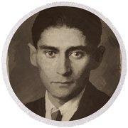 Franz Kafka Round Beach Towel