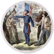 Freedmens Bureau, 1868 Round Beach Towel