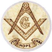 Freemason Symbolism By Pierre Blanchard Round Beach Towel