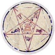 Freemason Symbolism Round Beach Towel