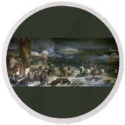 French Rev: Valmy, 1792 Round Beach Towel