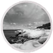 Frigid Round Beach Towel
